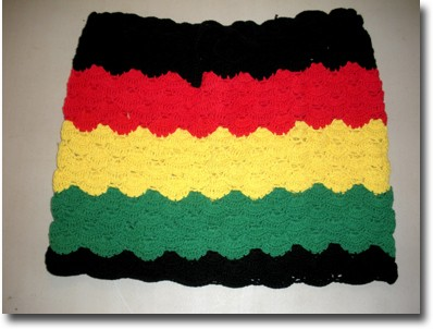 Rasta and Reggae Ruffle One Shoulder Dress @ RastaEmpire.com