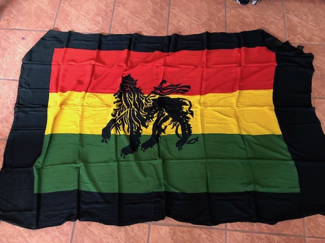 view big image lion of judah sarong in rasta colors with lion of judah ...