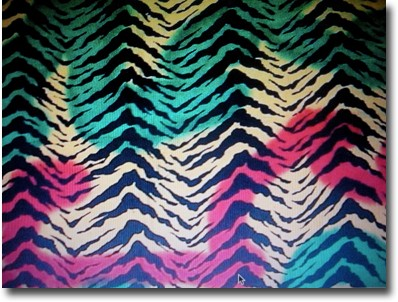 ... print sarong with rasta colors on a zebra print background 100 % rayon
